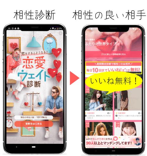 with  相性診断 マッチングアプリ